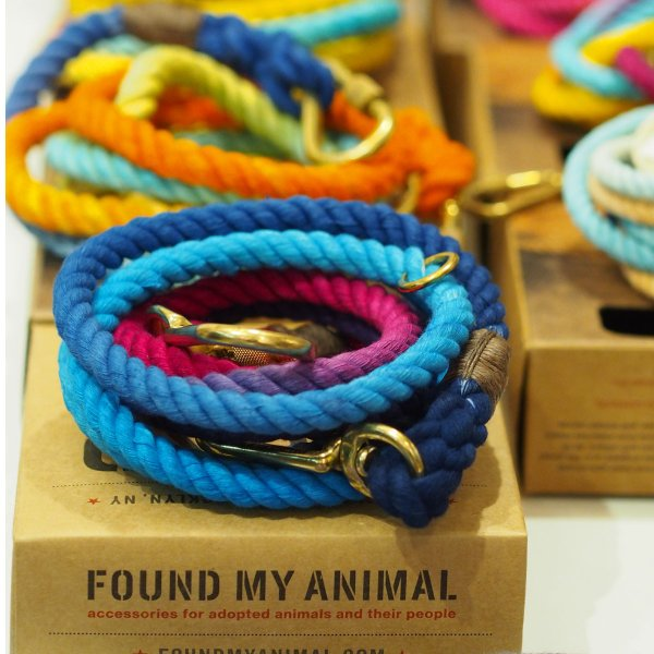 ファウンドマイアニマル ロープ リード FOUND MY ANIMAL アジャスタブル リーシュ オンブレ グラデーション 犬 猫 おしゃれ セレブ インポート 輸入 送料無料|ykozakka|11