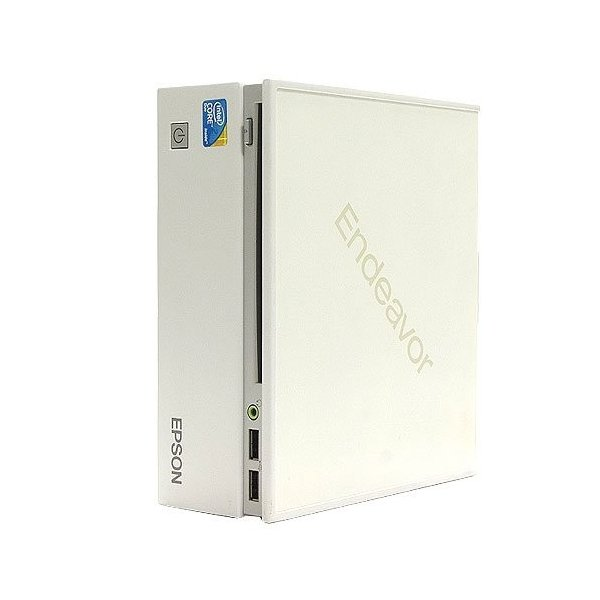 (中古品)EPSON Endeavor ST125E Core2Duo P8700 2.53GHz 2GB 160GB 小型PC 縦置き・横置き両対応(送料別商品)|yleciel