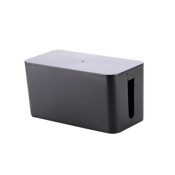 ケーブル収納 ケーブルボックス 《Sサイズ》 《ブラック》 コード収納 タップボックス タップ収納(送料別商品)|yleciel