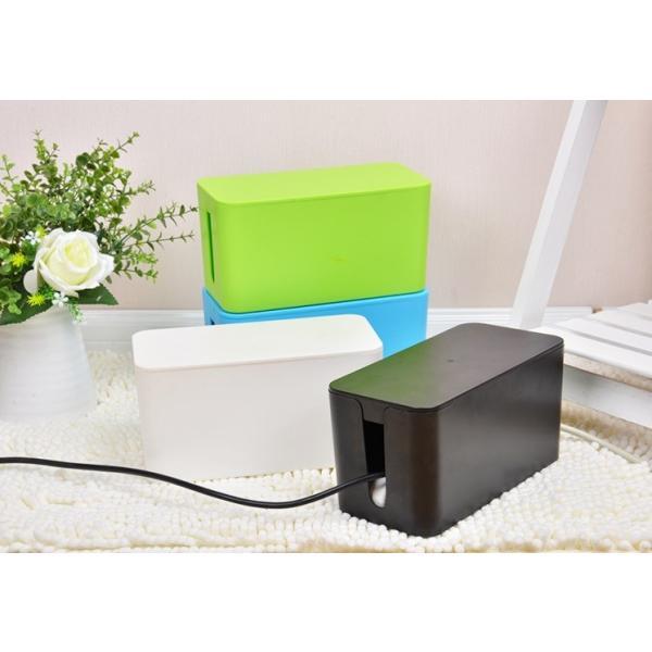 ケーブル収納 ケーブルボックス 《Sサイズ》 《ブラック》 コード収納 タップボックス タップ収納(送料別商品)|yleciel|02