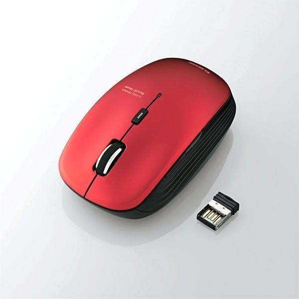 エレコム BlueLED静音マウス/無線/5ボタン M-BL21DBSRD レッドの画像
