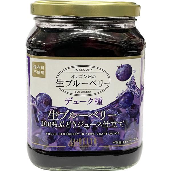 ブルーベリー USA 生ブルーベリー100%ぶどうジュース漬け 680g(固形量340g) デューク種 デルタインターナショナル
