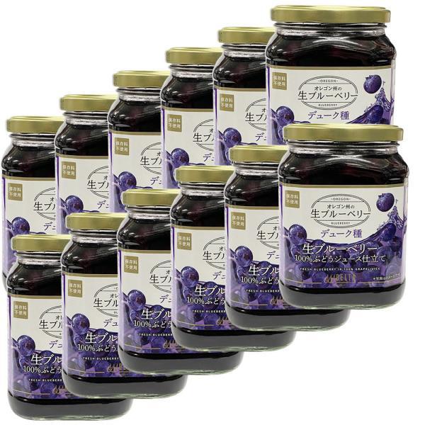 ブルーベリー USA 生ブルーベリー100%ぶどうジュース漬け 1ケース 680g(固形量340g)×12個セット デューク種 デルタインターナショナル