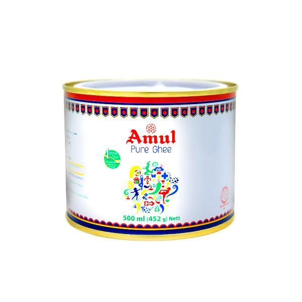 ピュア ギー Amul Pure Ghee 500ml(452g)【送料無料】(賞味期限/2021年12月末)