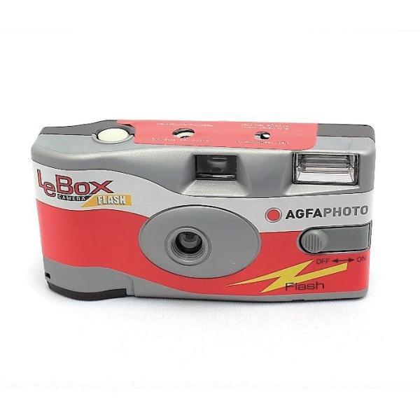 アグファ LeBox Flash ストロボ内蔵 レンズ付フィルムカメラ 27枚撮りの画像