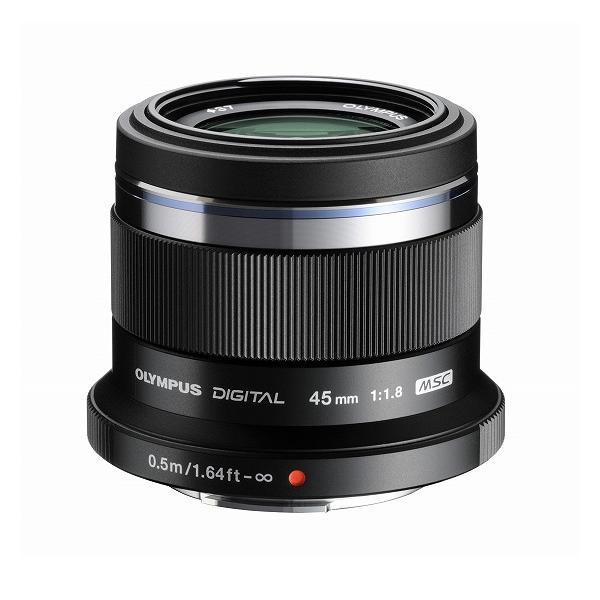 《新品》 OLYMPUS(オリンパス) M.ZUIKO DIGITAL 45mm F1.8 ブラック(マイクロフォーサーズ)〔レンズフード別売〕