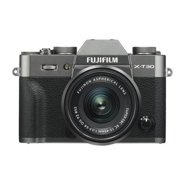 《新品》 FUJIFILM (フジフイルム) X-T30 XC15-45mmレンズキット  チャコールシルバー|ymapcamera