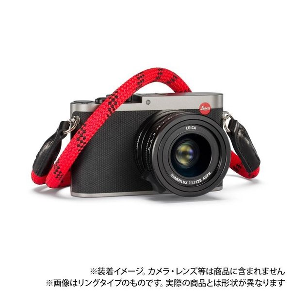 《新品アクセサリー》 Leica (ライカ) ロープストラップ by COOPH 126cm テープタイプ Fire