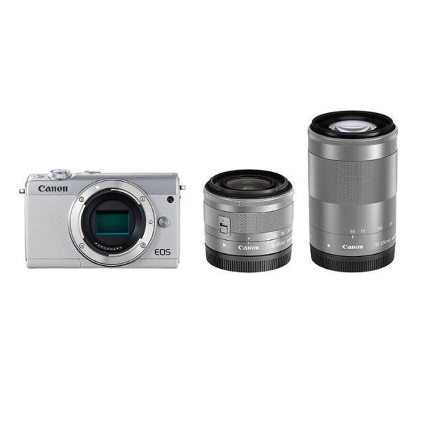 《新品》 Canon (キヤノン) EOS M100 ダブルズームキット ホワイト