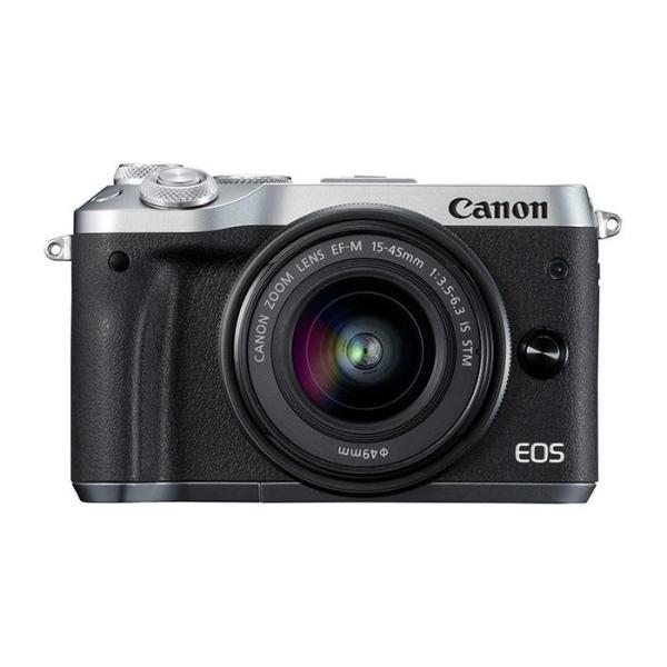 《新品》 Canon (キヤノン) EOS M6 EF-M15-45 IS STM レンズEVFキット シルバー【EOS M6 デビューキャンペーン対象】