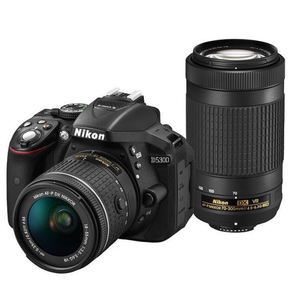《新品》 Nikon(ニコン) D5300 AF-P ダブルズームキット ブラック【¥10,000-キャッシュバック対象/交換レンズと同時購入でさらに増額】