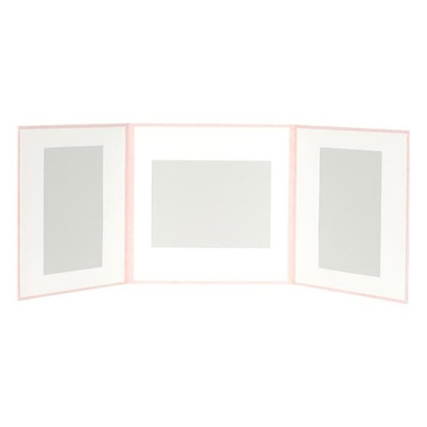 《新品アクセサリー》 HAKUBA(ハクバ) スリムスクウェア台紙6切サイズ 3面(角×3枚) ピンク