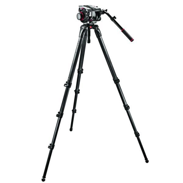 《新品アクセサリー》 Manfrotto(マンフロット) ビデオキット カーボンファイバー三脚(L) 509HD、536K〔メーカー取寄品〕