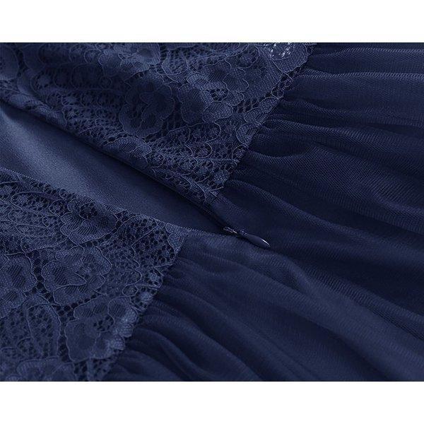 パーティードレス 結婚式ワンピース オシャレ フォーマル お呼ばれ  レース ノースリーブ  ミディアムミニ ドレス ワンピ  リボン 服装 上品|ymart0417|17