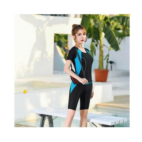 競泳用 水着 レディース 体型カバー 練習用 売れ筋 フィットネス水着 女性用 女の子 2点セット 海水パンツ ポイント消化|ymart0417|07
