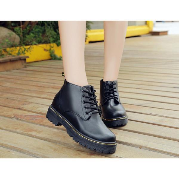ショートブーツ レディース 編み上げブーツ レースアップブーツ 人気 秋冬 新作 女性用 厚底ブーツ 美脚ブーツ 靴