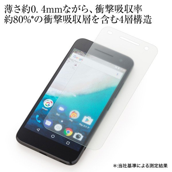 Y!mobile Selection 衝撃吸収 反射防止保護フィルム for Android One S1|ymobileselection|02