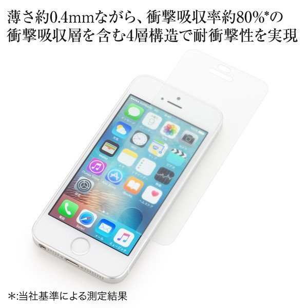 Y!mobile Selection 衝撃吸収 反射防止保護フィルム for iPhone SE|ymobileselection|02