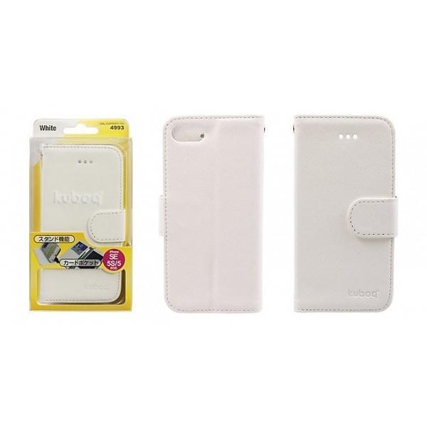 981bb2cf91 ... Owltech iPhone SE / 5s / 5用 kuboq PU手帳型ケース ピンク / ホワイト ...