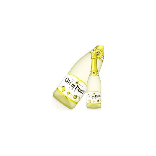 カフェドパリ レモン 750ml x 12本 送料無料※(本州のみ) [2ケース販売][フランス/フルーツ スパークリング/Cafe de Paris]|yo-sake
