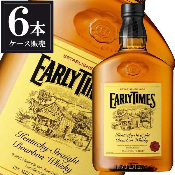アーリータイムズ イエローラベル 40度 1.75L 1750ml x 6本 正規品 送料無料※(本州のみ) (ケース販売) (EARLYTIMES アメリカ ウイスキー)|yo-sake