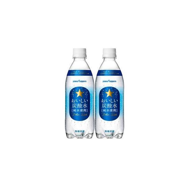 サッポロ おいしい炭酸水 500ml x 24本 (ケース販売)(同梱不可)|yo-sake