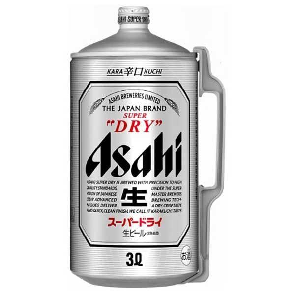 アサヒ スーパードライ ミニ樽アルミ 3L 3000m x 6本 (国産/ビール/ミニ樽/ALC 5%)|yo-sake