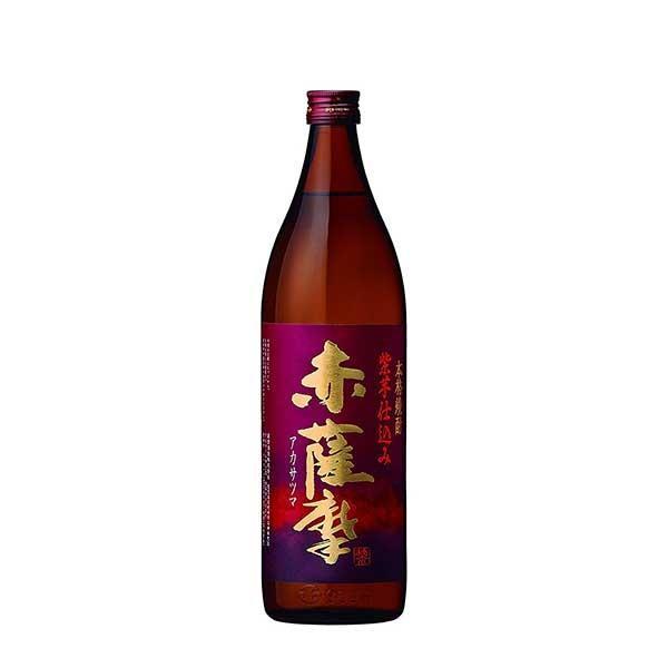 赤薩摩 芋 25度 (瓶) 900ml 送料無料(本州のみ) (薩摩酒造/芋焼酎/鹿児島県)|yo-sake