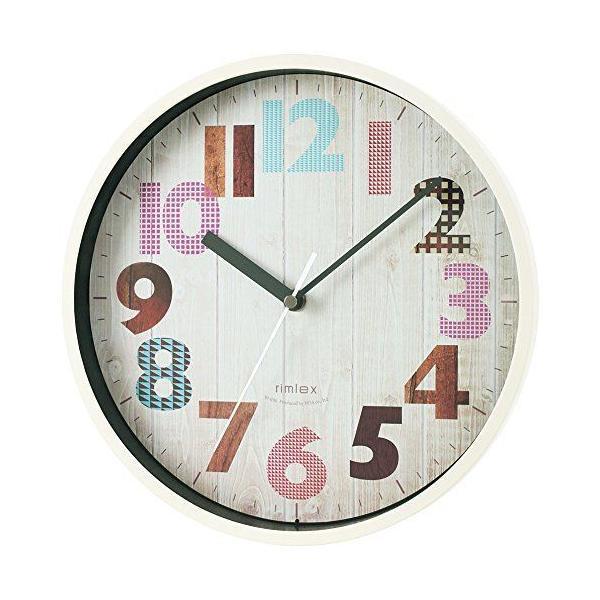 ノア精密rimlexジーツ電波時計W-696掛け時計掛時計壁掛け時計壁掛時計木目風ヴィンテージ調夜間秒針停止機能ステ
