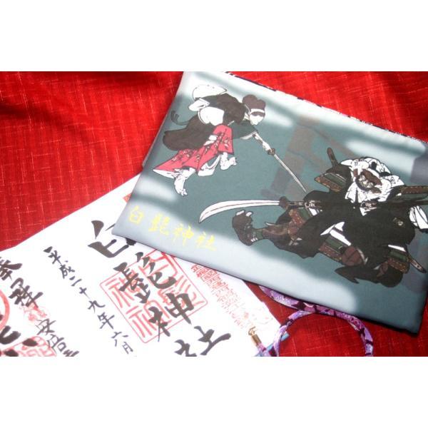 白髭神社公認【牛若丸弁慶】御朱印帳ケース(一冊入れ)大|yo-yamato|06