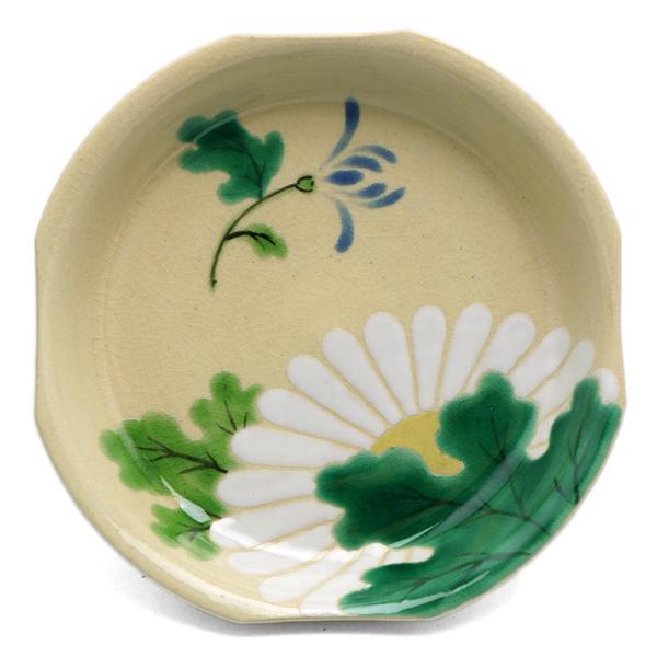 京焼・色絵菊文四方小皿・伏原博之《豆皿・小皿・10.0cm》|yobi