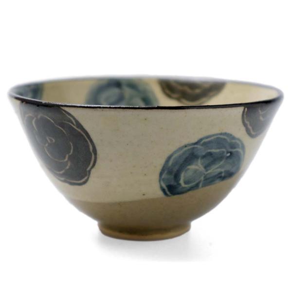 京焼:乾山写葵文飯碗・伏原博之《飯碗・ご飯茶碗・11.5cm》 yobi