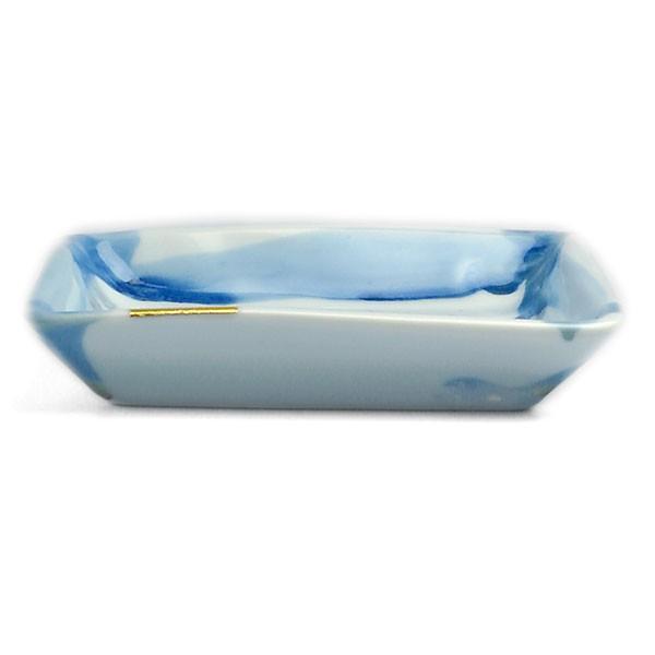 《定期販売》金箔染付角小皿・古川章蔵《小皿・11.0cm》|yobi|02