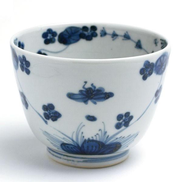 九谷焼:染付水草文碗・正木春蔵《小鉢・9.0cm》|yobi
