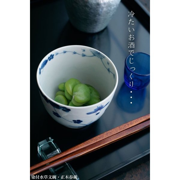九谷焼:染付水草文碗・正木春蔵《小鉢・9.0cm》|yobi|06