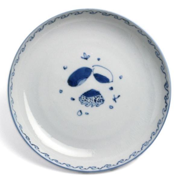 九谷焼:染付貝文5寸皿・正木春蔵《小皿・取り皿・銘々皿・14.8cm》|yobi