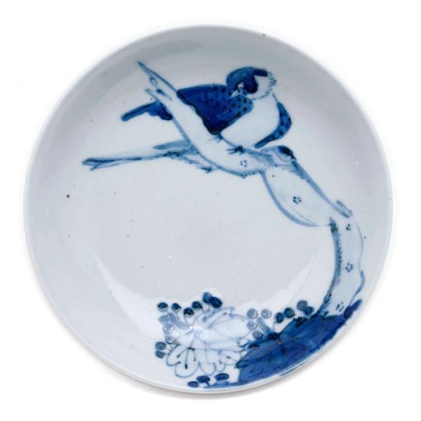 染付枯木に鳥図皿・正木春蔵《小皿・15.0cm》|yobi