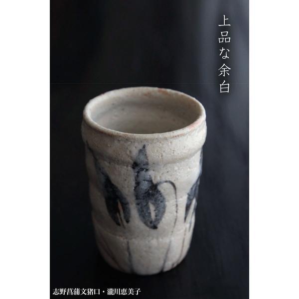 志野焼:志野菖蒲文猪口・瀧川恵美子《湯呑・筒向付・6.0cm》|yobi|05