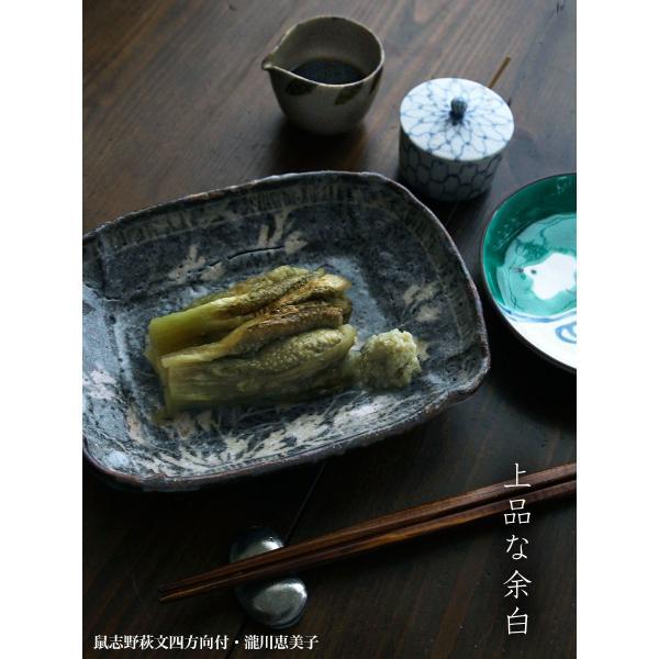 志野焼:鼠志野萩文四方向付・瀧川恵美子《小皿・17.7cm》|yobi|05