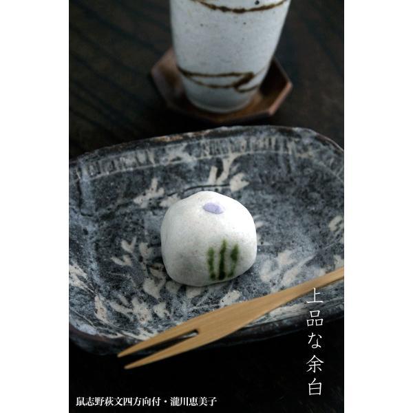 志野焼:鼠志野萩文四方向付・瀧川恵美子《小皿・17.7cm》|yobi|06