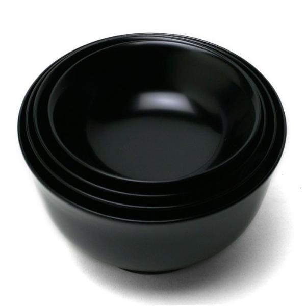漆器:黒端反四つ椀・奥田志郎《お椀・汁椀・雑煮椀・飯椀》|yobi|02