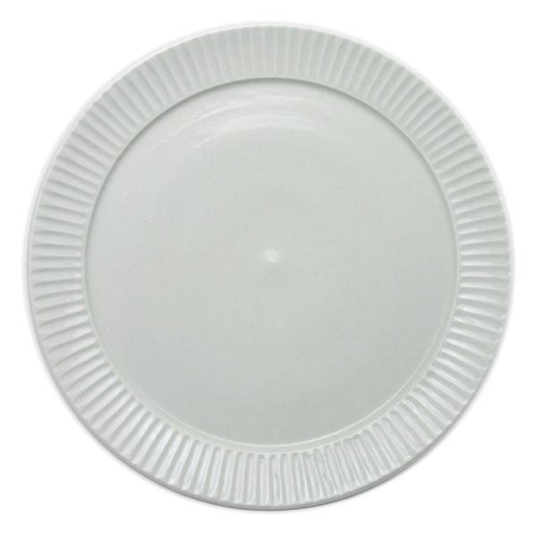 白磁:白磁しのぎ8寸リム皿・阿部春弥《大皿・24.2cm》|yobi