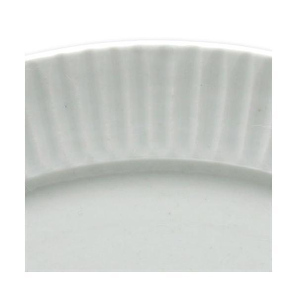 白磁:白磁しのぎ8寸リム皿・阿部春弥《大皿・24.2cm》|yobi|04
