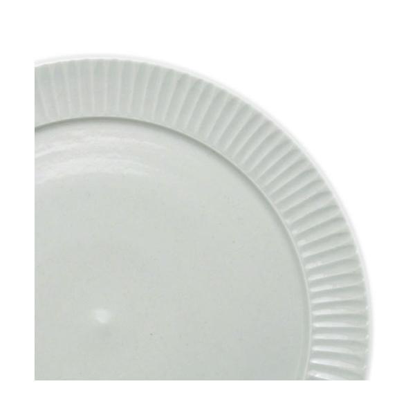 白磁:白磁しのぎ8寸リム皿・阿部春弥《大皿・24.2cm》|yobi|05