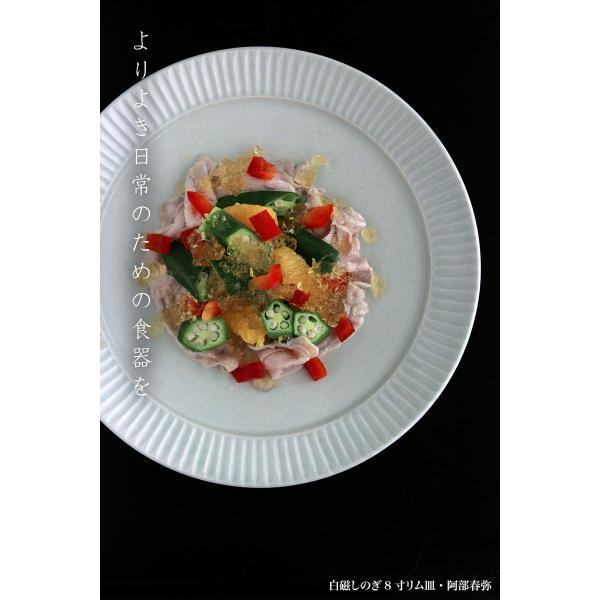 白磁:白磁しのぎ8寸リム皿・阿部春弥《大皿・24.2cm》|yobi|07