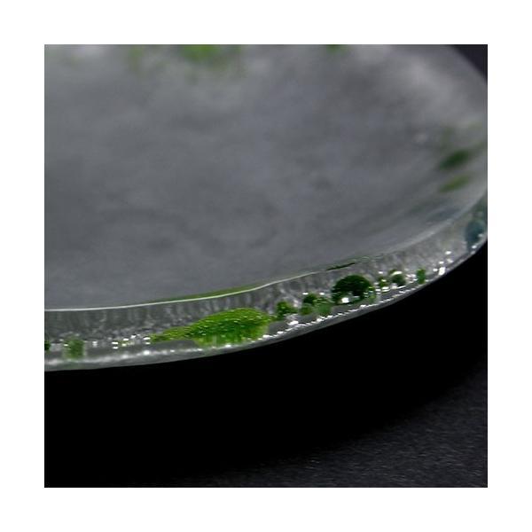 ガラス:Bubble-cosmic緑泡13cm・d.Tam《小皿・12.6cm》|yobi|09