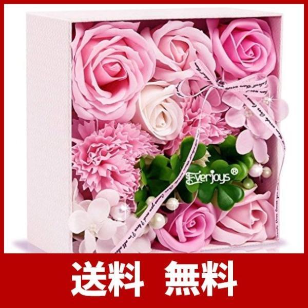 ソープフラワー 創意方形ギフトボックス 母の日 誕生日 記念日 先生の日 バレンタインデー 昇進 転居など最適としてのプレゼント|yodoya