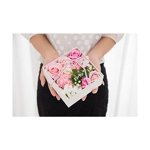 ソープフラワー 創意方形ギフトボックス 母の日 誕生日 記念日 先生の日 バレンタインデー 昇進 転居など最適としてのプレゼント|yodoya|05
