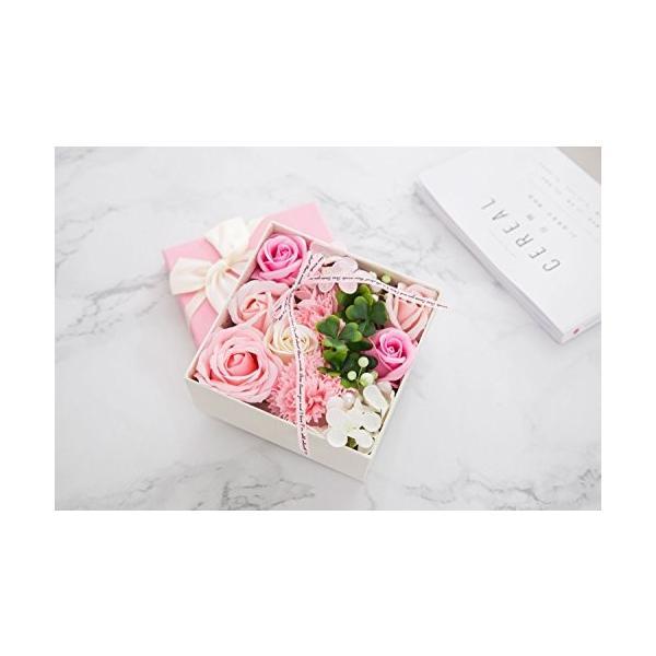 ソープフラワー 創意方形ギフトボックス 母の日 誕生日 記念日 先生の日 バレンタインデー 昇進 転居など最適としてのプレゼント|yodoya|06