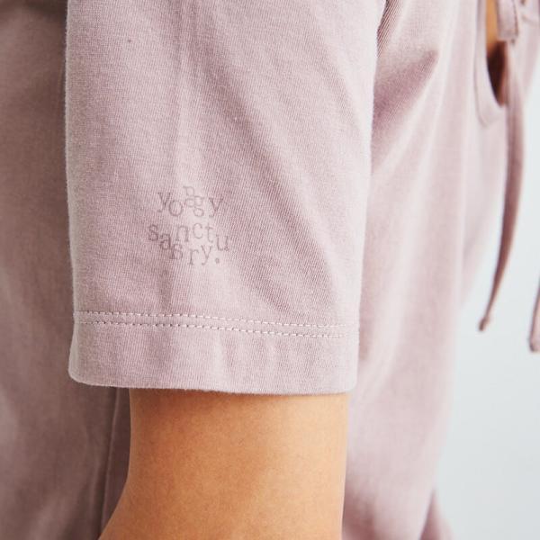ヨギーサンクチュアリ ヨガウェア トップス オープンバックタイTシャツ yoggy sanctuary|yoga-pi|06